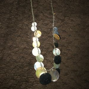 Shell and silver necklace